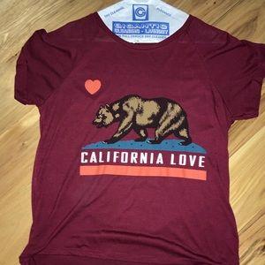 Burgandy California Love T-Shirt
